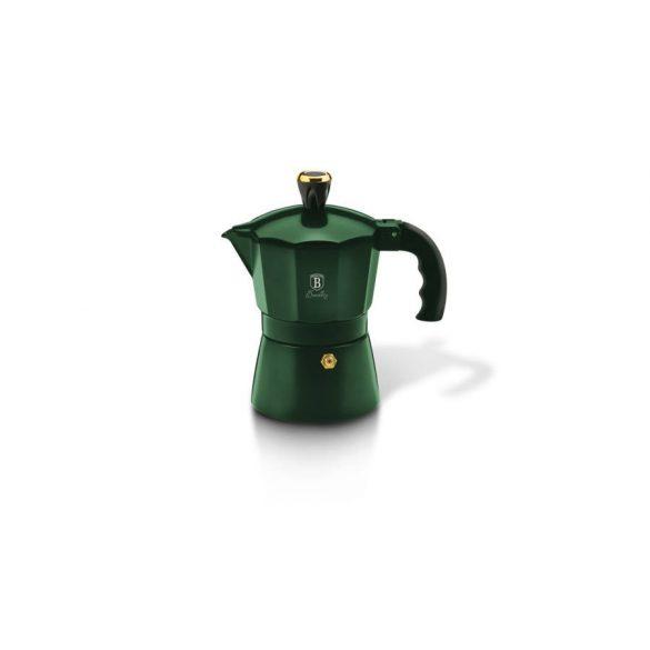 """Berlinger Haus Emerald Collection 3 személyes """"kotyogós"""" kávéfőző, smaragdzöld"""