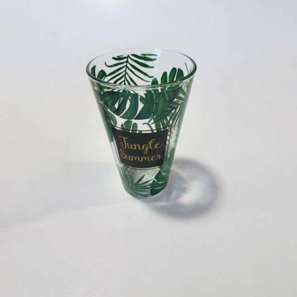 Nadis Jungle üveg üdÍtős pohár szett, 6 db,  31 cl