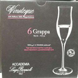 Luigi Bormioli Olasz kristály Vinoteque Grappa pohár készlet 6*10,5 cl