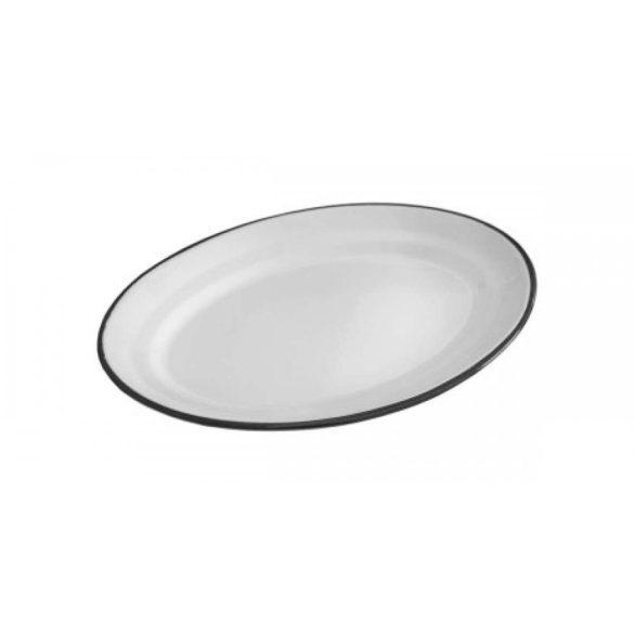 Zománcozott ovális kínáló tál 30*25*2,5 cm