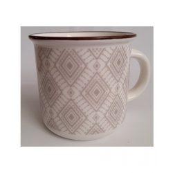 Rombusz mintás porcelán bögre 370 ml