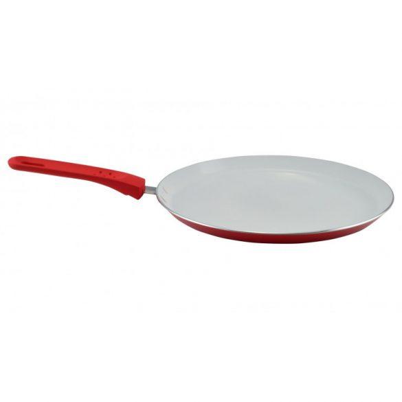 Kerámia bevonatos palacsintasütő 24 cm piros