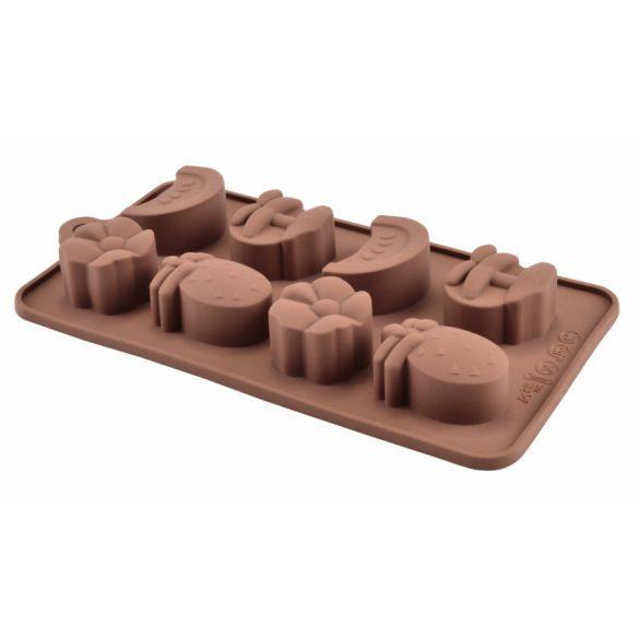 Csokiforma - bonbon gyümölcs formákkal