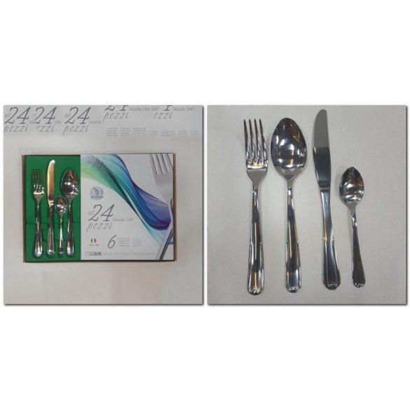 NERONE rozsdamentes evőeszköz készlet 24 részes (2,5 mm)