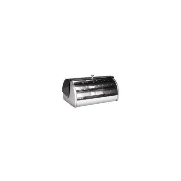 Berlinger Haus Shine Basalt Collection kenyértartó rozsdamentes acél kenyértartó, fekete/ezüst 38,5*28*18,5 cm