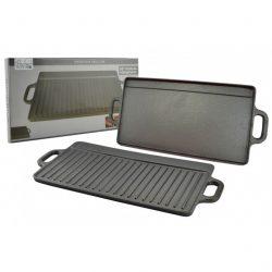 Öntöttvas grill lap 2 oldalas 41*19 cm