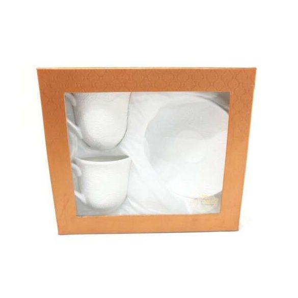 Díszdobozos kerámia csésze szett, csésze aljjal 2*200 ml