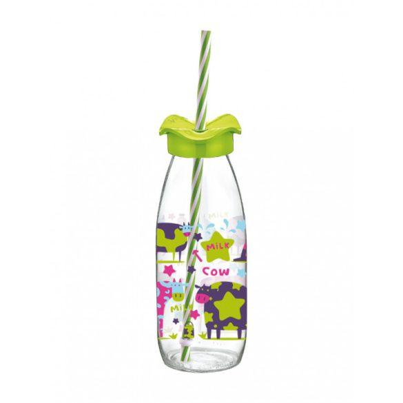 Perfect Home Limonádés üveg szívószállal, 3 db