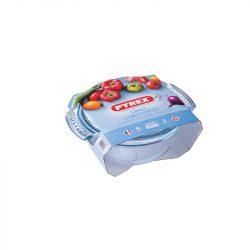 PYREX kerek sütőtál + fedő 2,1 L (1,5 l + 0,6 l)