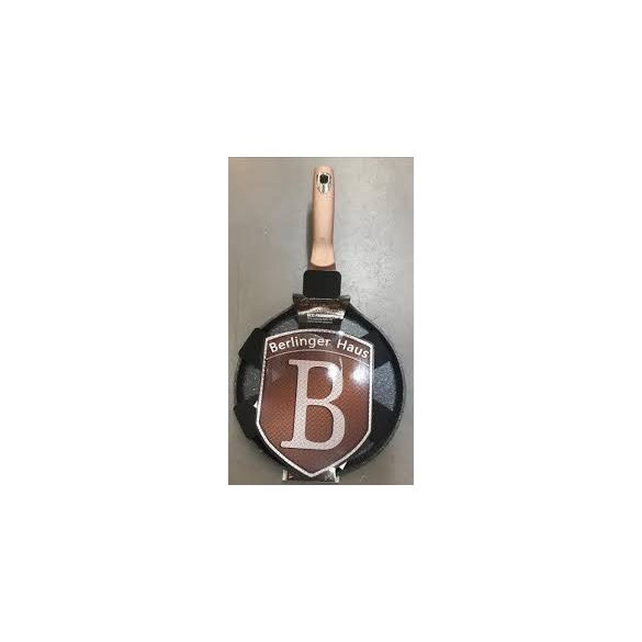 Berlinger Haus Metallic Rose gold Line palacsintasütő márvány bevonattal, metál külső bevonattal, 25 cm