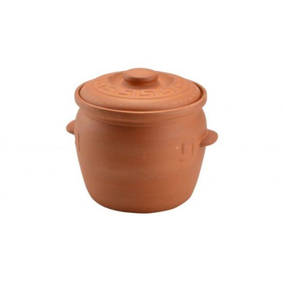 Agyag káposztás fazék, natúr, 6,5 literes