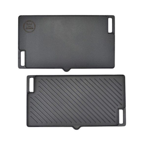 Öntöttvas 2 oldalas csőrös grill lap 45*25 cm