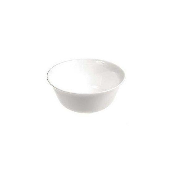 CARINE fehér opál üveg salátás, kompótos tálka 12 cm LOSE