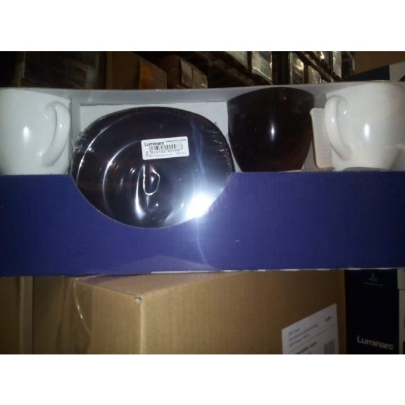 Carine teás készlet fekete-fehér, 6 db,   22 cl
