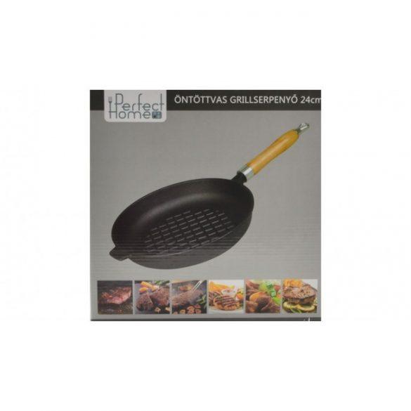 Öntöttvas grill serpenyő 24 cm