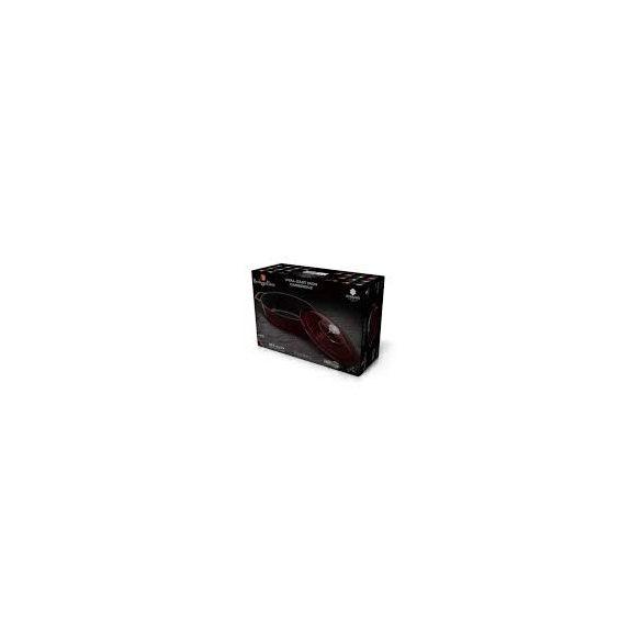 Berlinger Haus Metallic Burgundy Line öntöttvas ovális sütőedény fedővel, 30*22*12  cm, burgundy
