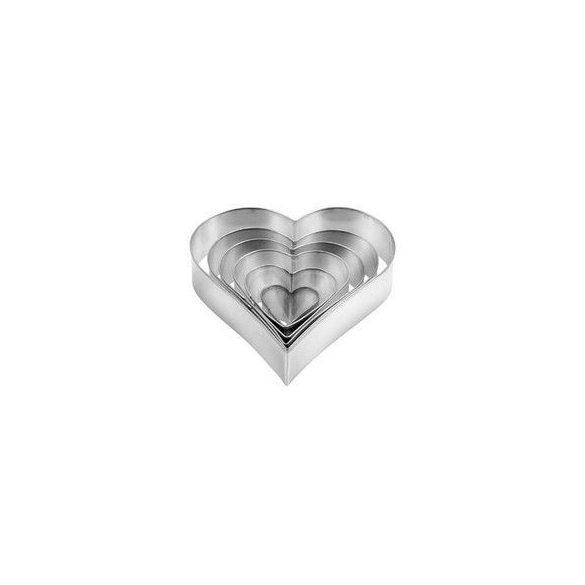 DELICIA Linzerkiszúró 6 db, szív minta