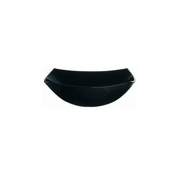 QUADRATO fekete íves szögletes tál 24 cm
