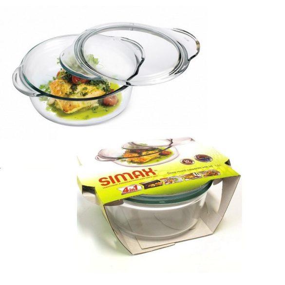 SIMAX hőálló mély kerek tál 1,5 l + 0,3 l
