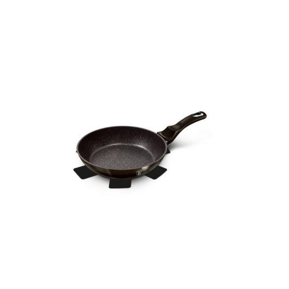Berlinger Haus Metallic Line Shine Black Edition 2,4 literes serpenyő márvány bevonattal, 28*5 cm, fekete