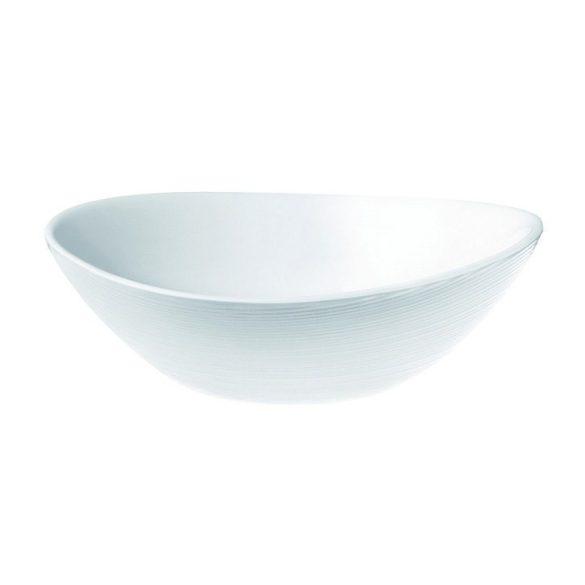 PROMETEO opál üveg salátás tálka 15x14cm