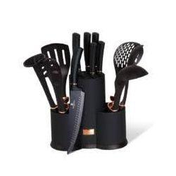 Berlinger Haus Black Rose Collection 12 részes konyhai készlet késekkel és kiszedőkkel, fekete/rose-gold