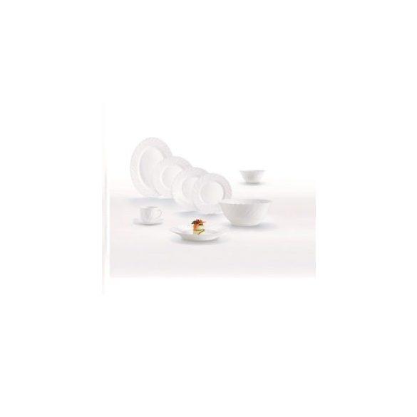 Luminarc Opál üveg étkészlet 38 részes, fehér színben