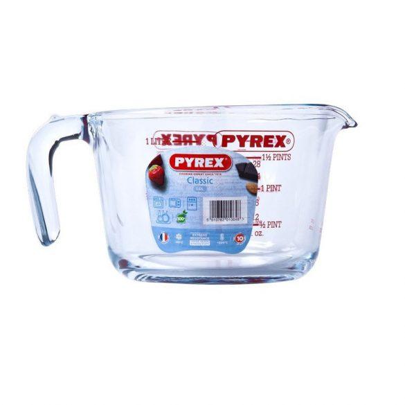 Pyrex hőálló mércés kancsó, 1 l