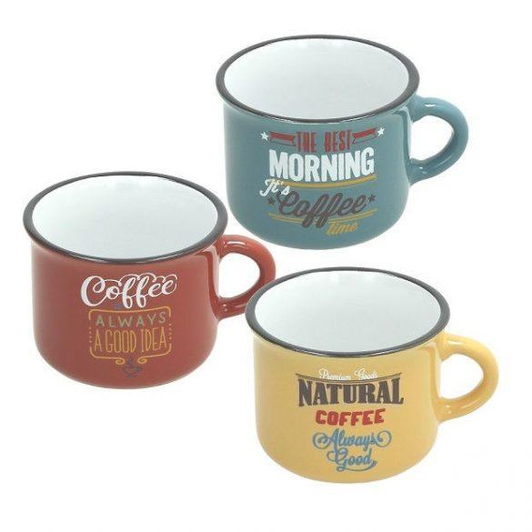 VINTAGE kerámia bögre kávés 10 cl SZÍNES (választható színben)