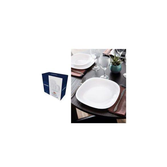 Luminarc Carine üveg étkészlet 19 részes, fehér