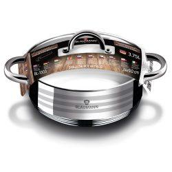 Gourmet Line 3,75 literes rozsdamentes acél lábas hőálló üveg fedővel 24*9 cm