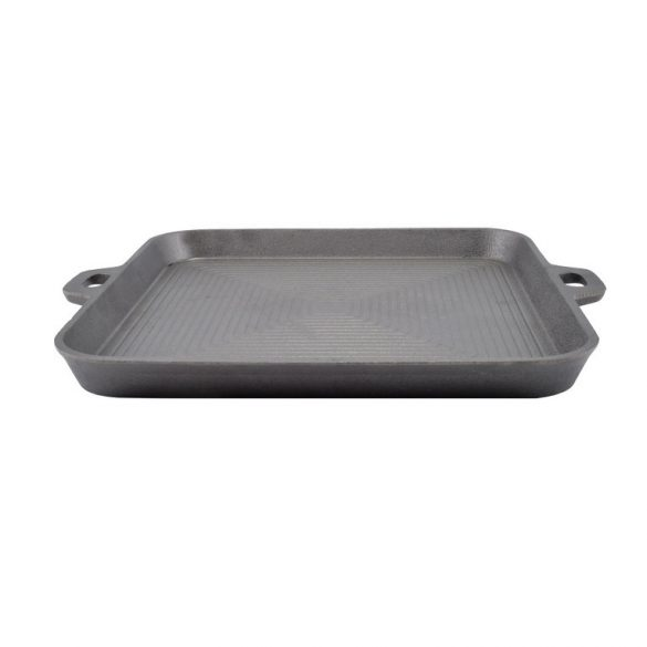 Öntöttvas grill szeletsütő 30*30*3 cm