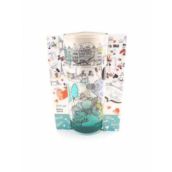 Disney Minnie üveg pohár 270 ml díszdobozban  AMSTERDAM design