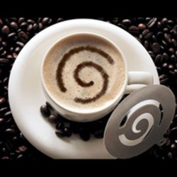 Cappuccino díszítő sablon 3 db rozsdamentes