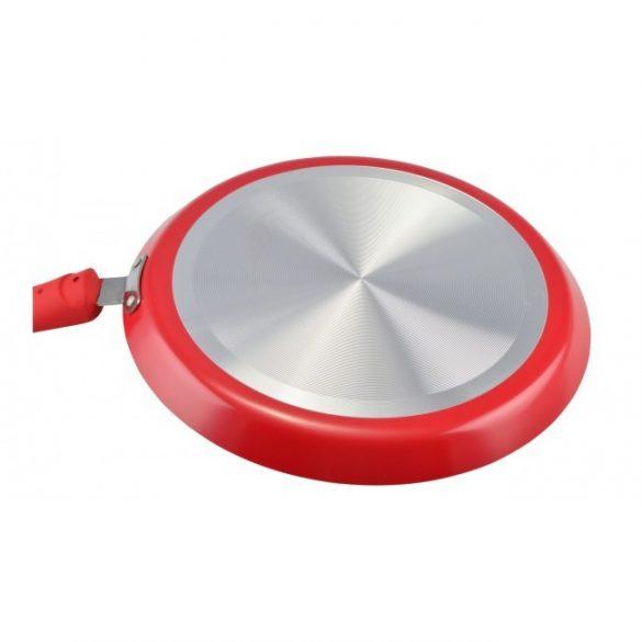 Kerámia bevonatos palacsintasütő 28cm piros, Perfect Home