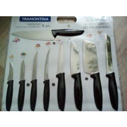9 részes rozsdamentes acél pengéjű kés készlet
