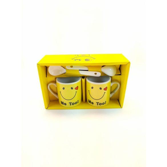 Smile 2 db-os  porcelán csésze szett díszdobozban 2 db kanállal 2*100 ml
