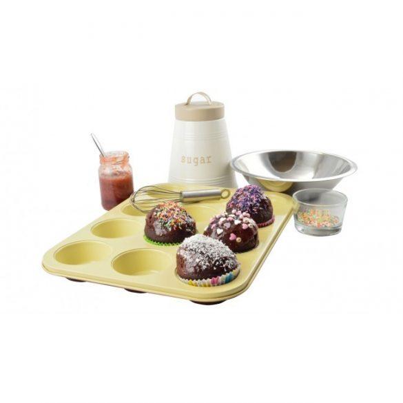 Kerámia bevonatos muffinsütő 12 db-os, Perfect Home