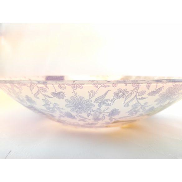 Levendula mintás, 2,5 literes üveg tál, 30 cm átmérőjű