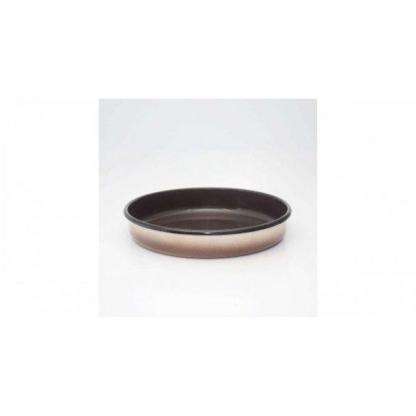 Zománcozott ovális barna sütőtál 36*5,5 cm