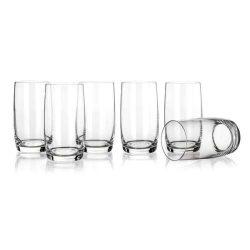 Leona üdítős üveg pohár szett 6*3,8 dl