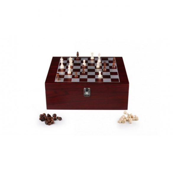 Sakk boros készlettel fa dobozban