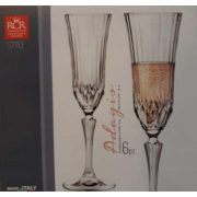Adagio talpas pezsgős pohár készlet, 18 cl, 6 db