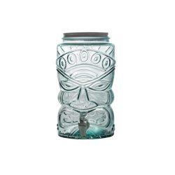 Tiki zöld limonádés üveg csappal,  6 literes