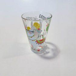 Nadia Lama No Drama üveg üdÍtős pohár szett,  6 db,  31 cl
