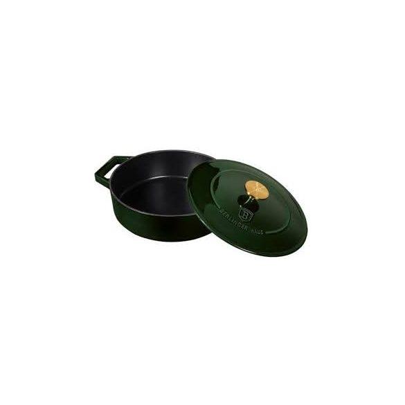 Berlinger Haus Emerald Collection öntöttvas lábas fedővel, 26*7,5  cm, smaragdzöld