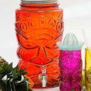 Tiki Borostyán limonádés üveg csappal,  6 l
