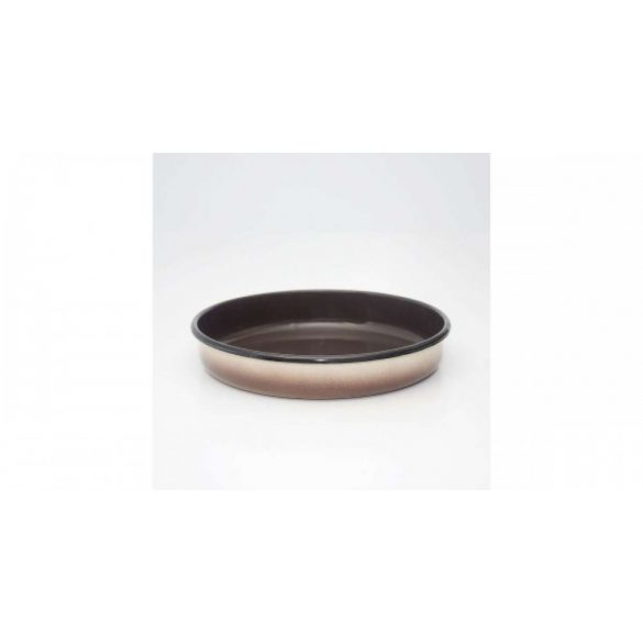 Zománcozott ovális barna sütőtál 32*5,5 cm
