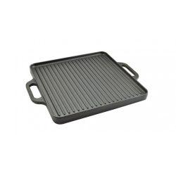 Perfect Home Öntöttvas grill lap, 2 oldalas, 33 x 33 cm