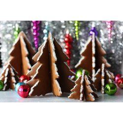 Csokiforma fenyőfa 3 Dimenziós karácsonyi